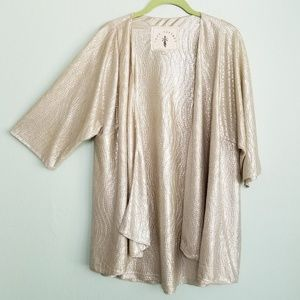 KNOT SISTERS Shimmer Textured Cardigan M /L